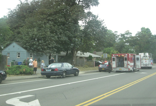 Police respond to 'shots fired' call at house on Royal Ave - Photo sent in by viewer Chris