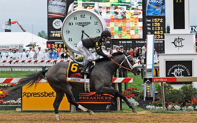 Oxbow, Gary Stevens win Preakness Stakes