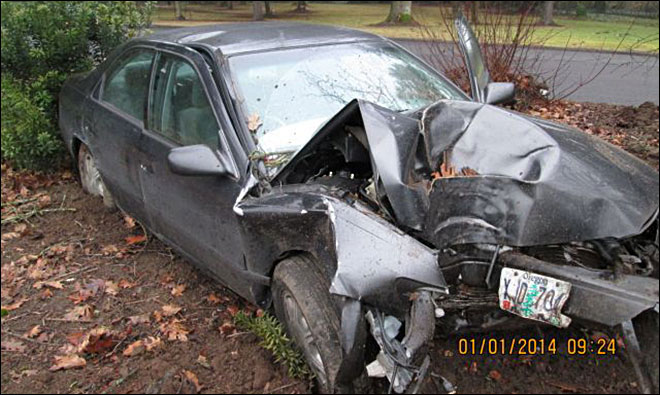 Man who crashed car at I-5 rest area cited for DUII
