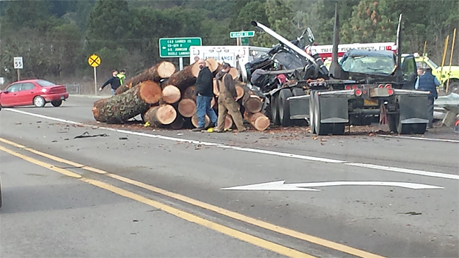 Crash with log truck kills retired sheriff's office captain