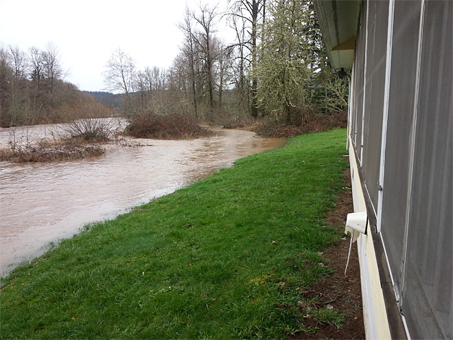 Heavy rain brings flooding to region already battered by ice storm