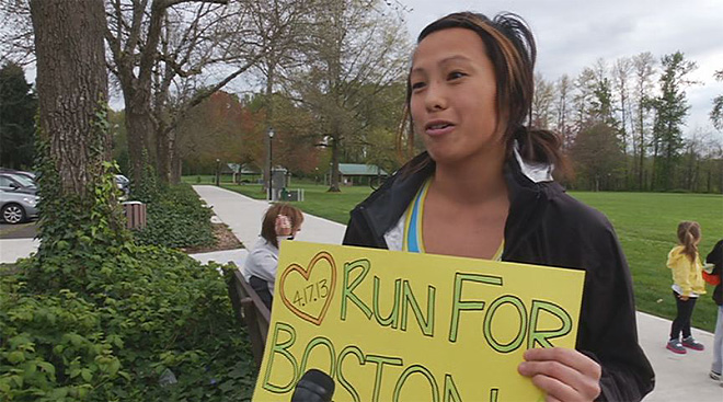 Run for Boston event in Eugene