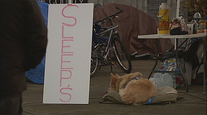 SLEEPS Protest at Lane County Courthouse