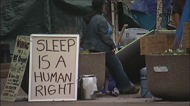 City revamps homeless 'rest stops'; SLEEPS says 'too little, too late'