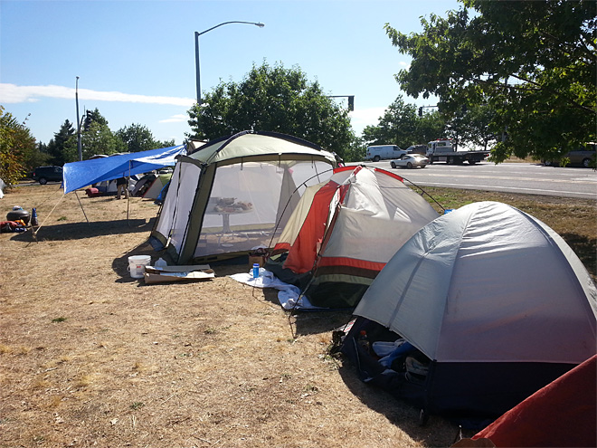 New protest camp takes root in North Eugene