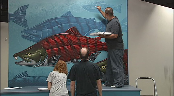 Sabertooth Salmon Mural (4)