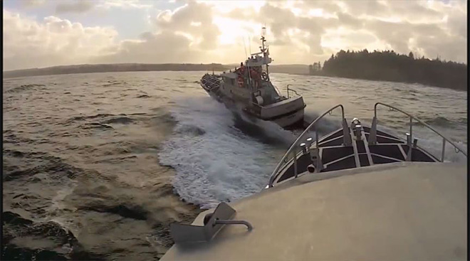 Scene from winning Coast Guard video of the year 2012
