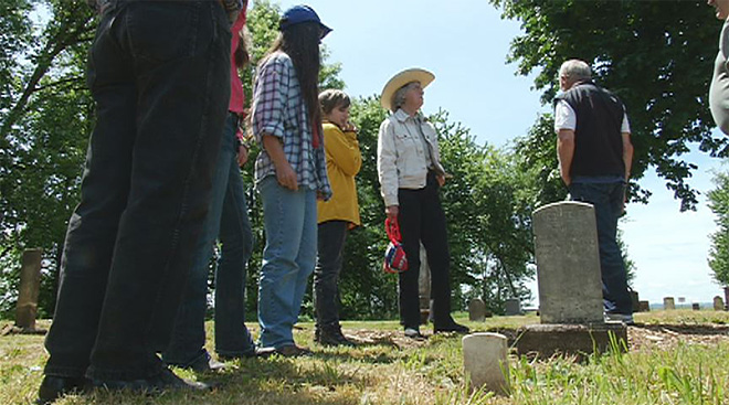 Searching lineage at the Loper Pioneer Cemetery over Memorial Day weekend02