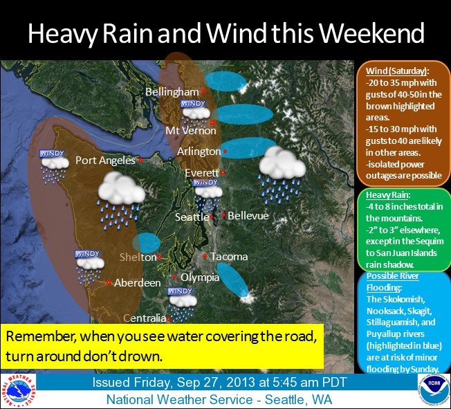 Seattle area weather September 27