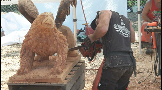 Second annual Chainsaw Art Festival - 01