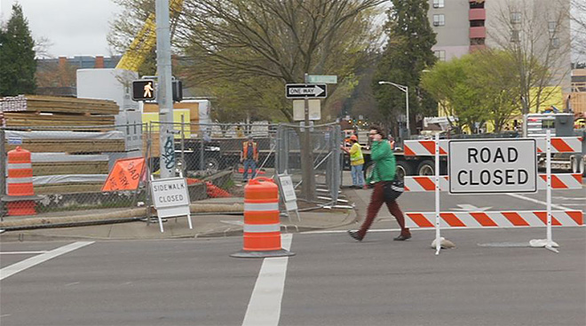 No fooling: Downtown street closed for 6 months