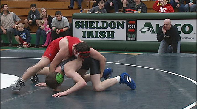 Sheldon High School wrestler Avery Ingram