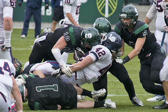 Sheldon in their State Championship rematch against Lake Oswego (Photo by Dan Morrison)