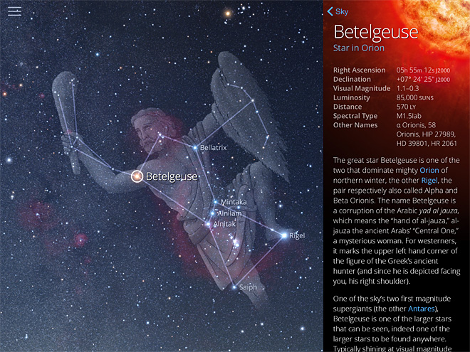 SkyGuide screenshots (3)