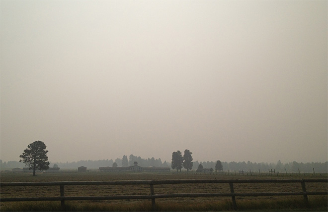 Smoke on Hwy 242 September 17