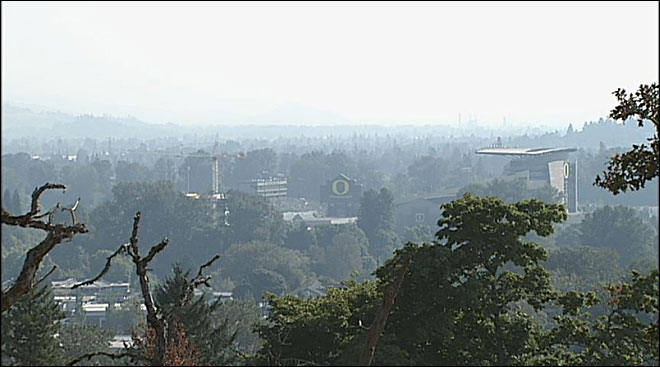 Smoke haze and Autzen September 13