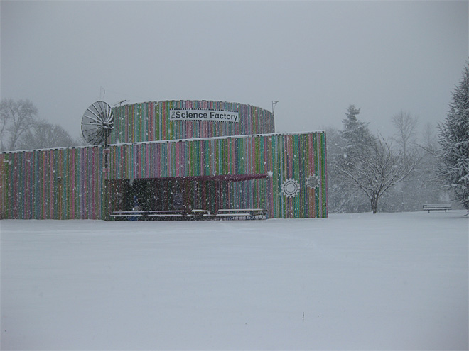 Snow at the Science Factory Dec 6