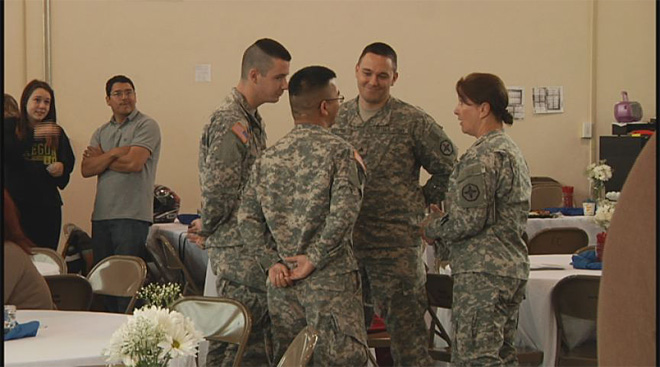 Soldiers say goodbye at the Webb Army Reserve Center 2