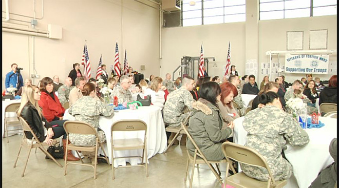 Soldiers say goodbye at the Webb Army Reserve Center 3