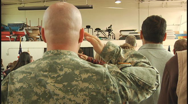Soldiers say goodbye at the Webb Army Reserve Center 4