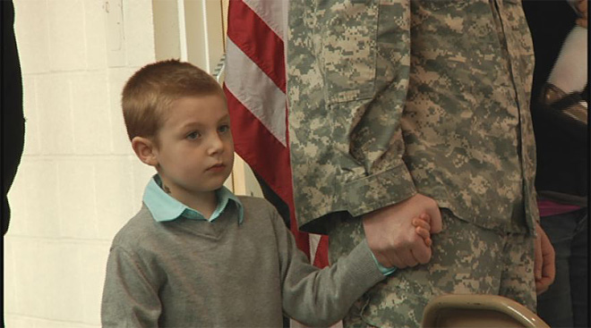 Soldiers say goodbye at the Webb Army Reserve Center 5
