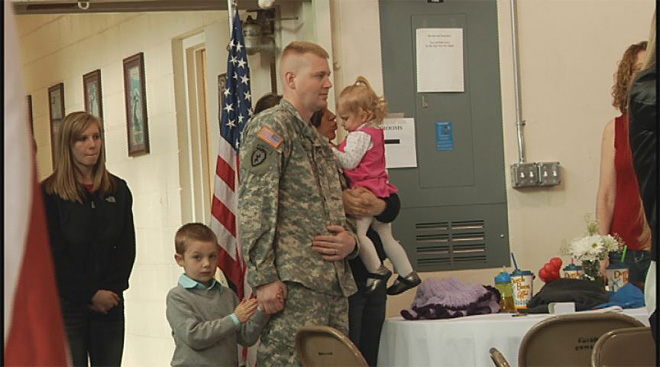 Soldiers say goodbye at the Webb Army Reserve Center 6
