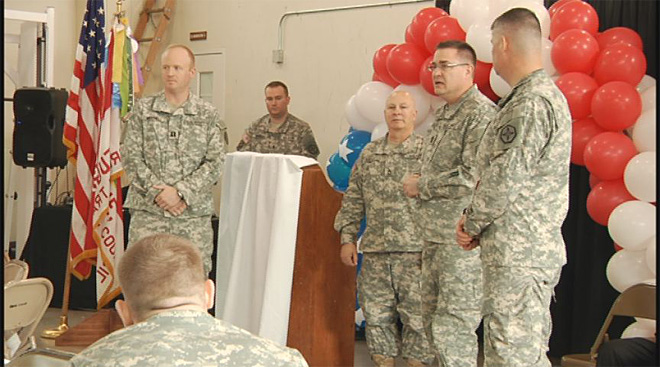 Soldiers say goodbye at the Webb Army Reserve Center 7