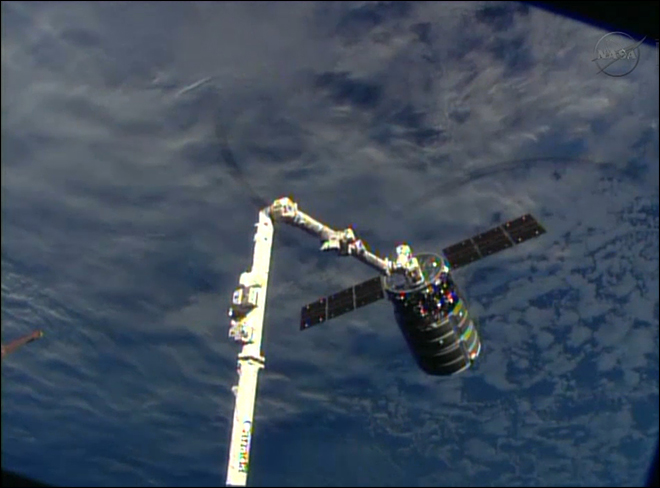 New commercial supply ship reaches space station