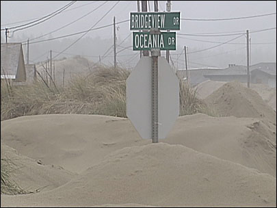 Storm turns Waldport neighborhood into a land of sand