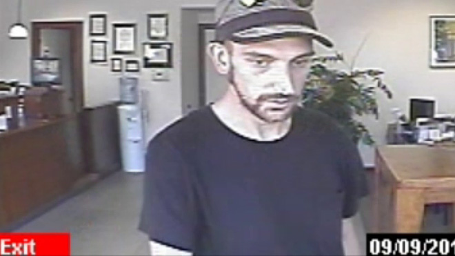 Man drinks water, robs bank, flees on bike