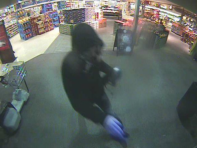 Suspect near exit of store