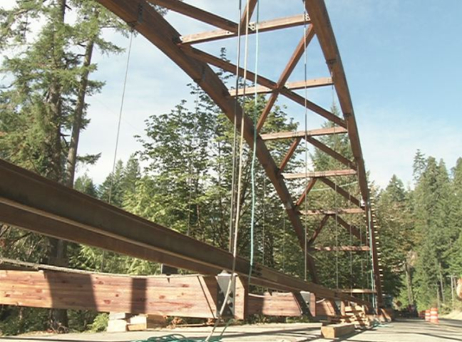 Tioga bridge nears completion