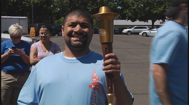 Torch run promotes Special Olympics