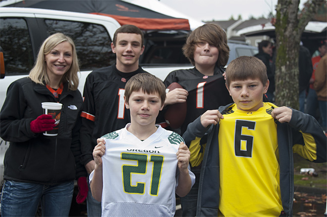 Tailgating at Reser Stadium for the 116th Civil War game (Photo- Tristan Fortsch_KVAL.com Staff)