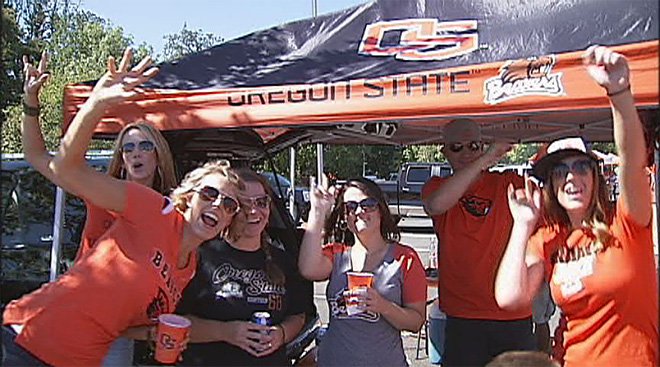Tailgating at Reser and Autzen