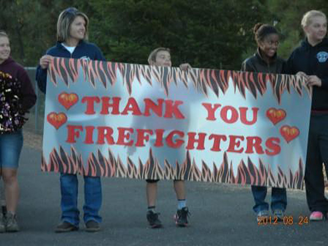 Taylor Bridge fire thank you in Cle Elum