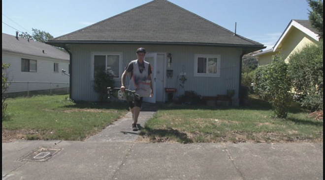 Teen hits hills while longboarding his paper route 04