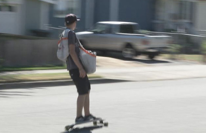 'Might as well longboard and make money at the same time, right?'