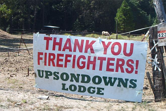Thank you sign at the Fort Complex in  California