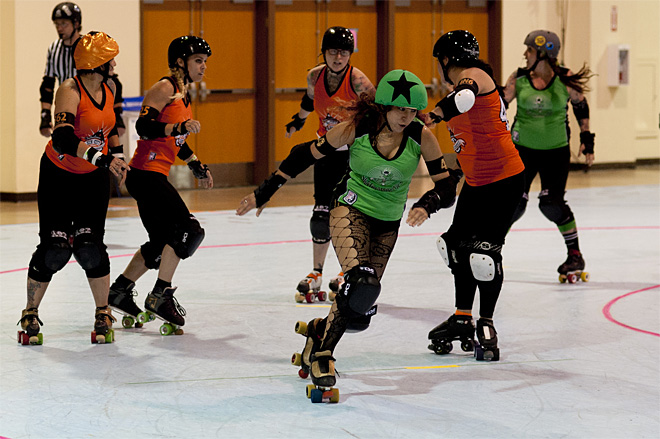 The Big O - Emerald City Roller Girls vs Sin City Roller Girls -08- Photo by Tristan Fortsch KVAL News