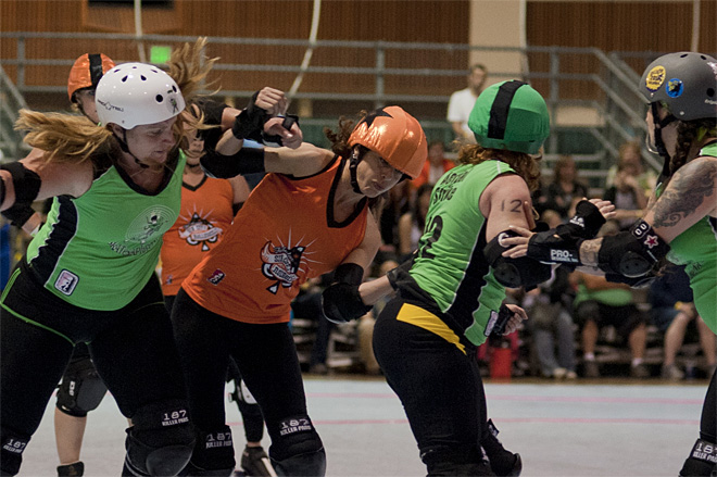 The Big O - Emerald City Roller Girls vs Sin City Roller Girls -14- Photo by Tristan Fortsch KVAL News