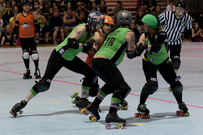 The Big O - Emerald City Roller Girls vs Sin City Roller Girls -15- Photo by Tristan Fortsch KVAL News