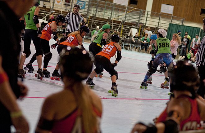 The Big O - Emerald City Roller Girls vs Sin City Roller Girls 04 - Photo by Tristan Fortsch _ KVAL News