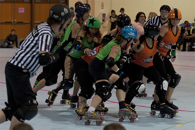 The Big O - Emerald City Roller Girls vs Sin City Roller Girls 13 - Photo by Tristan Fortsch _ KVAL News