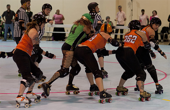 The Big O - Emerald City Roller Girls vs Sin City Roller Girls 28 - Photo by Tristan Fortsch _ KVAL News