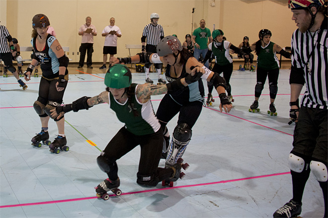 The Big O Derby - Sick Town Derby Dames vs Slaughter County Roller Vixens 28 _Friday 5-17