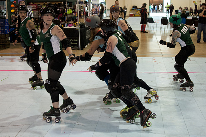 The Big O Derby - Sick Town Derby Dames vs Slaughter County Roller Vixens 29 _Friday 5-17