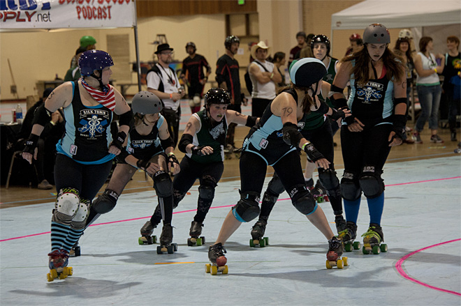 The Big O Derby - Sick Town Derby Dames vs Slaughter County Roller Vixens 32 _Friday 5-17
