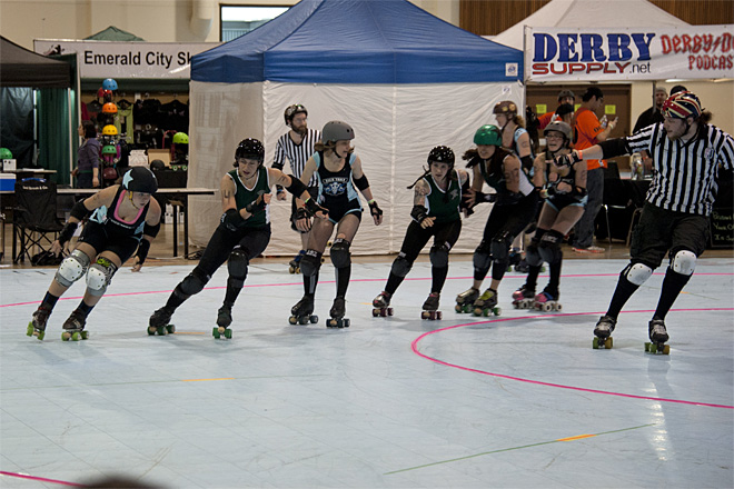 The Big O Derby - Sick Town Derby Dames vs Slaughter County Roller Vixens 34 _Friday 5-17
