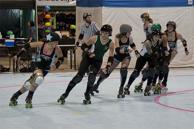 The Big O Derby - Sick Town Derby Dames vs Slaughter County Roller Vixens 35 _Friday 5-17